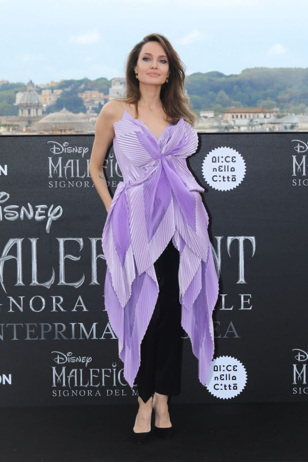 Angelina Brings 'Maleficent' To Rome