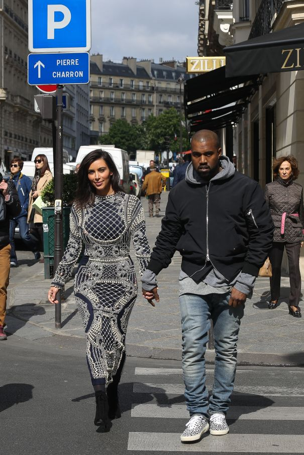 2014: Kim And Kanye Visit Balmain