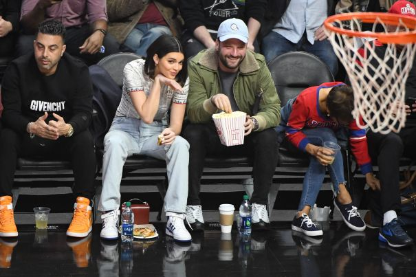 Kendall Jenner Gets Playful Courtside