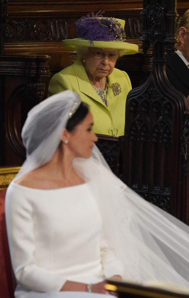 Queen Elizabeth Attends Prince Harry And Meghan Markle's Wedding