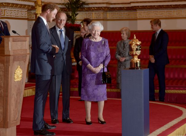 2015: The Queen Hosts Reception To Mark The Rugby World Cup