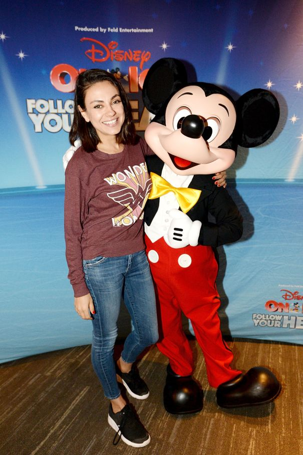 Mila Meets Mickey At 'Disney On Ice'