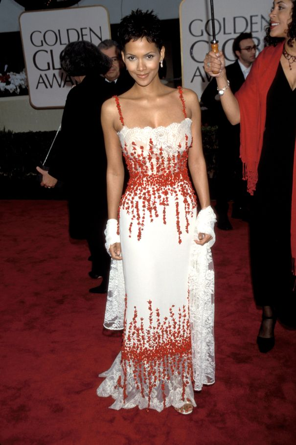 2000: Halle Berry's Red And White Hot Number