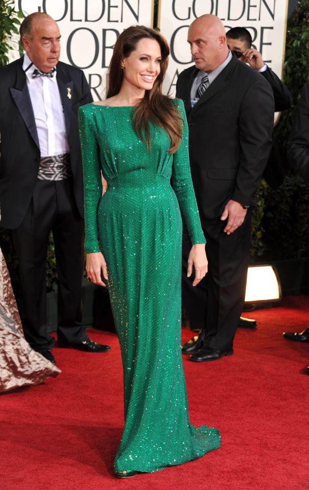 2011: Angelina Jolie's Emerald Stunner