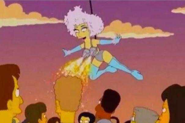 Gaga Flies At The Super Bowl
