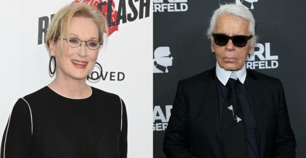 Meryl Streep vs. Karl Lagerfeld