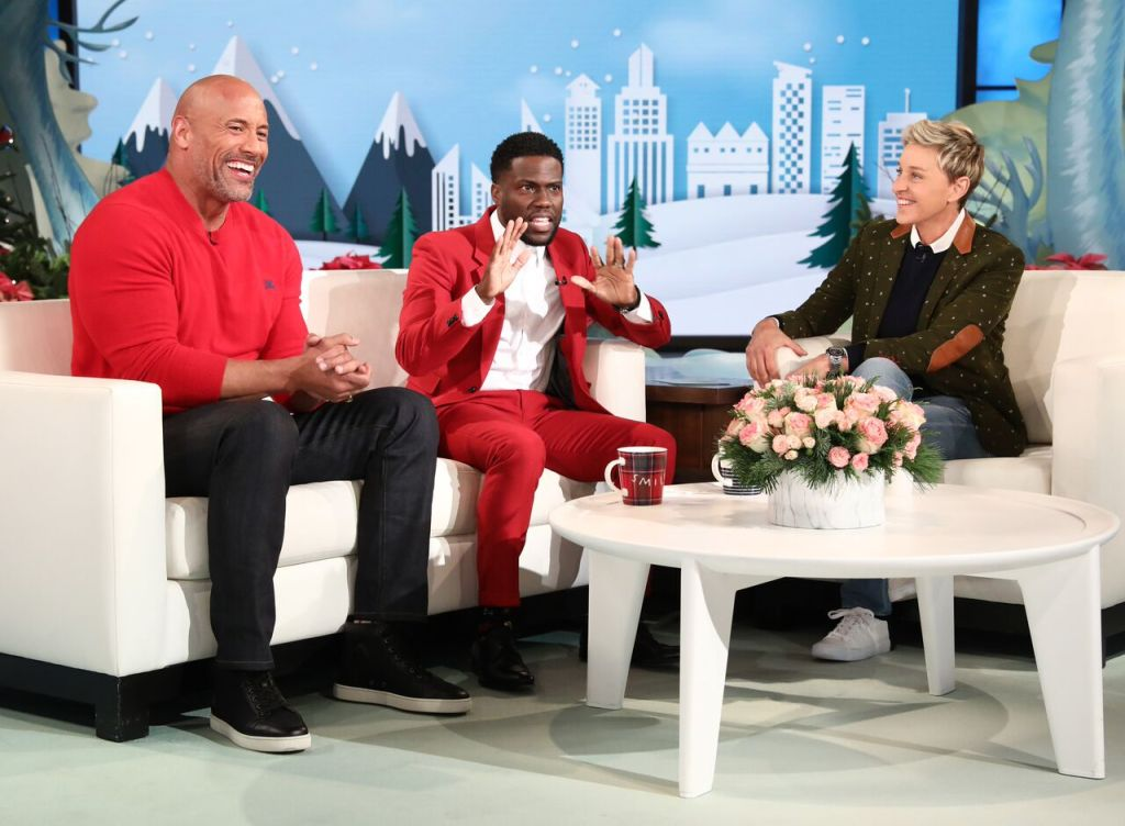Dwayne Johnson and Kevin Hart on 'The Ellen DeGeneres Show'