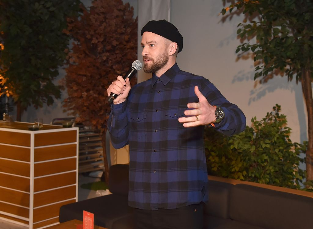 Justin Timberlake attends Tuesday's 'Man of the Woods' listening party