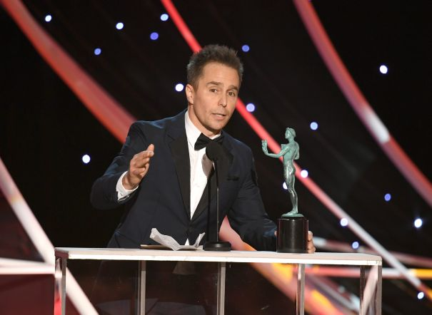 Sam Rockwell Honours Women