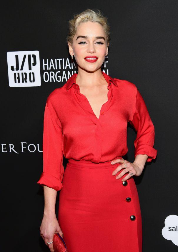 Trend: Classic Red Lip - Emilia Clarke