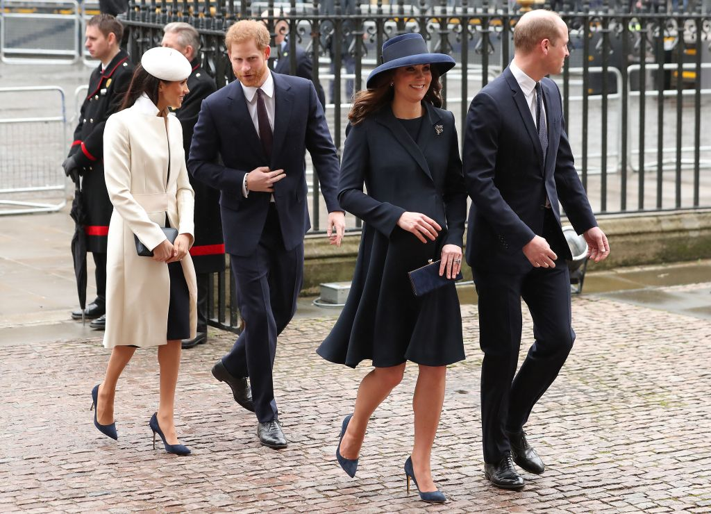 Prince Harry and Meghan Markle arrived with Kate Middleton and Prince William