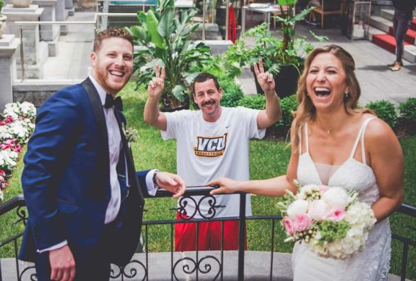 Adam Sandler Crashes Montreal Couple's Wedding Photos