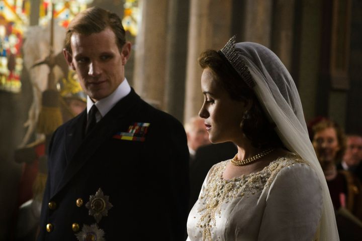 Matt Smith and Claire Foy in 'The Crown'
