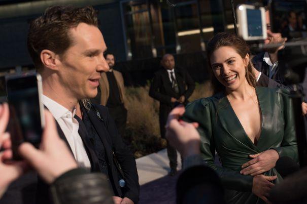 Benedict Cumberbatch, Elizabeth Olsen Meet Fans