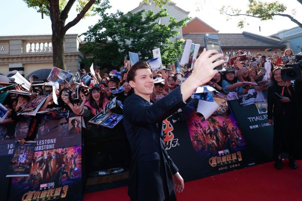 Tom Holland Selfies With Fans