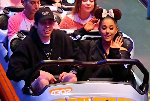 Ariana Grande And Pete Davidson Take A Spin On The Roller Coasters