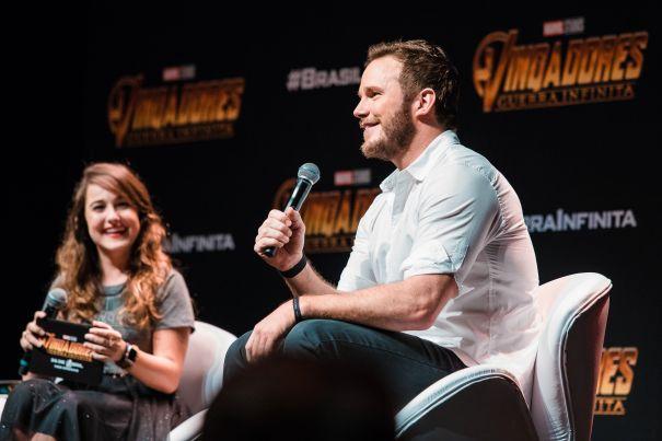 Chris Pratt Brings 'Infinity War' To Brazil