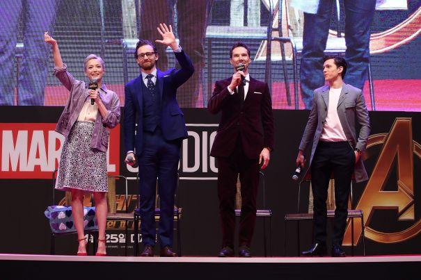 'Avengers' Greet Fans In Seoul