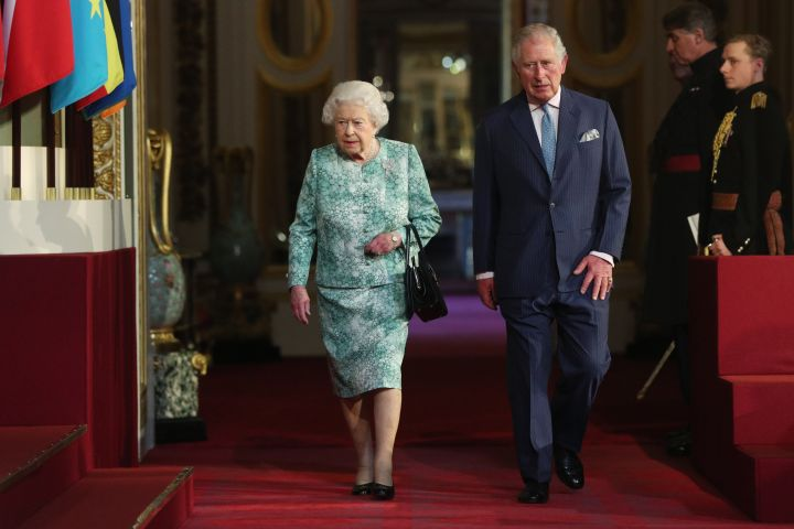 Queen Elizabeth II and Prince Charles, Prince of Wales attended the formal opening of the Commonwealth Heads of Government Meeting (CHOGM) at Buckingham Palace