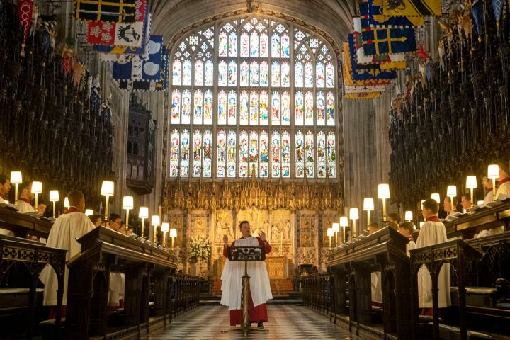 St. George's Chapel Choir rehearse before the wedding of Prince Harry and Meghan Markle