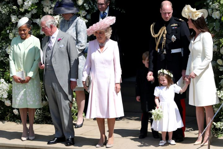 Kate Middleton with Prince William, Prince Charles and Camilla and Meghan Markle's mom Doria Ragland