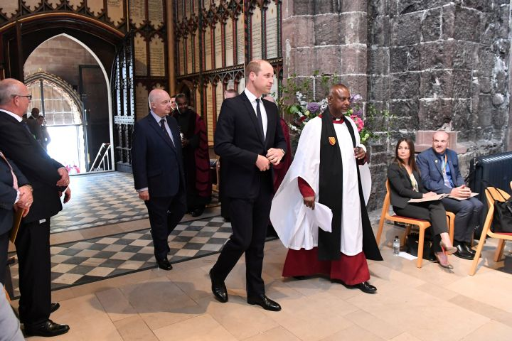 Britain's Prince William, attends The Manchester Arena National Service of Commemoration at Manchester Cathedral in central Manchester, May 22, 2018. Paul Ellis/Pool via Reuters