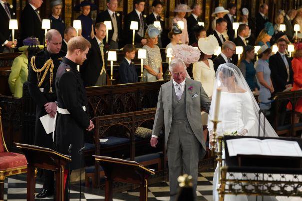Prince Charles Escorts Meghan Markle Down The Aisle