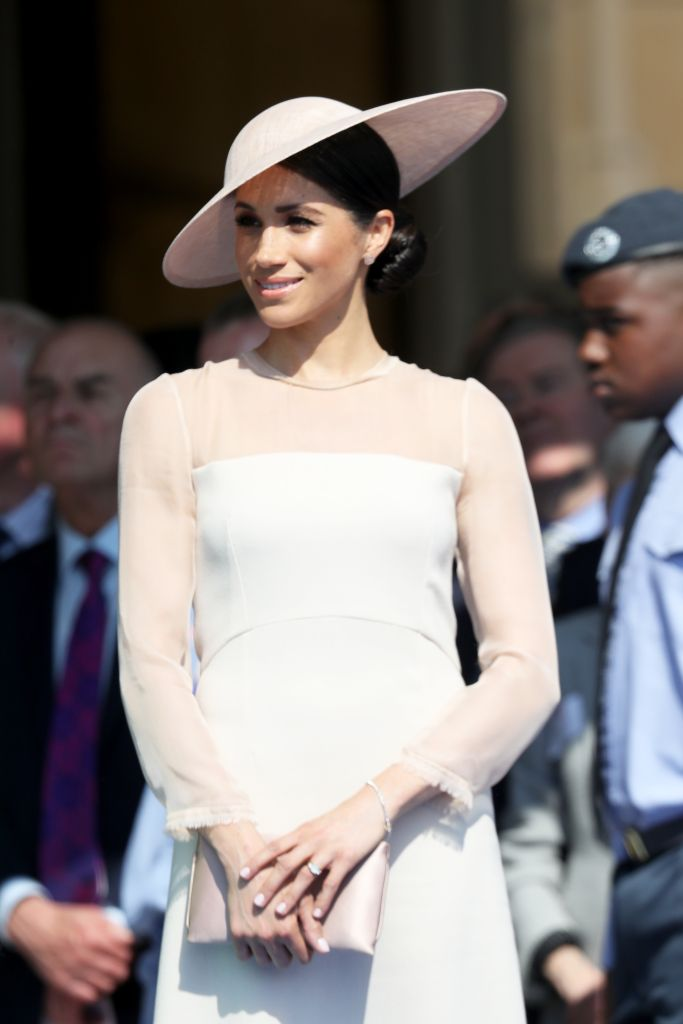 The Duchess of Sussex looked as stunning as ever in a chic form-fitting dress