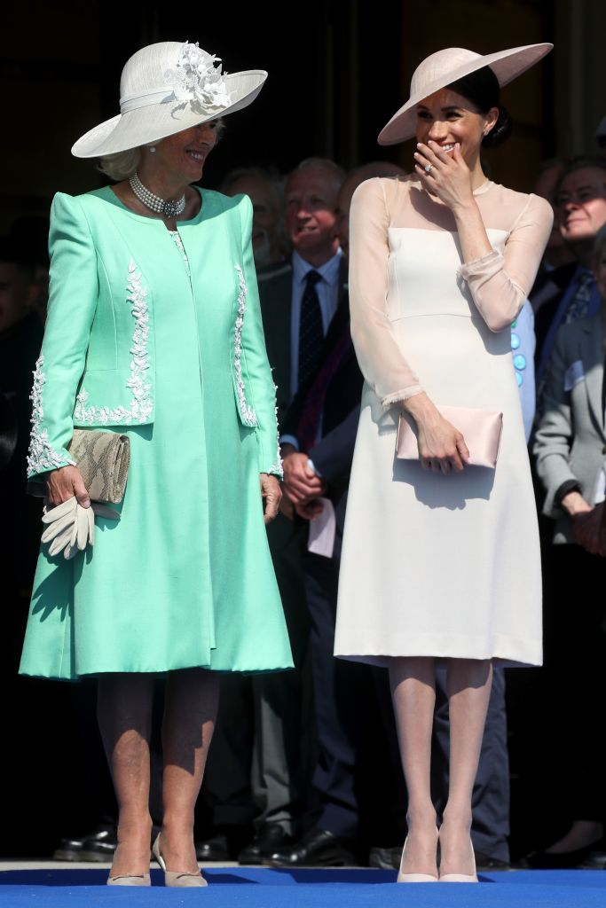 Meghan Markle attended the event with Charles' wife Camilla, the Duchess of Cornwall