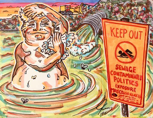 Trump's Sewage Bath