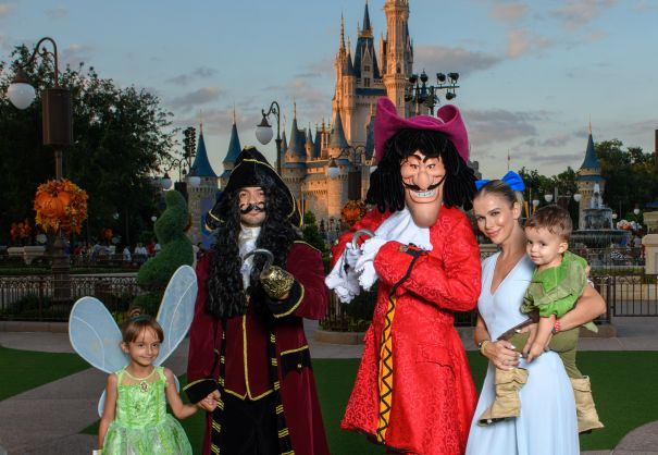 Luis Fonsi Enjoys Halloween At Walt Disney World