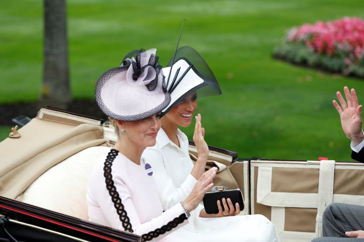 Meghan Markle rode in the carriage with Sophie, Countess of Wessex