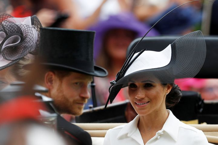 Prince Harry and Meghan Markle arrive at the Royal Ascot 2018