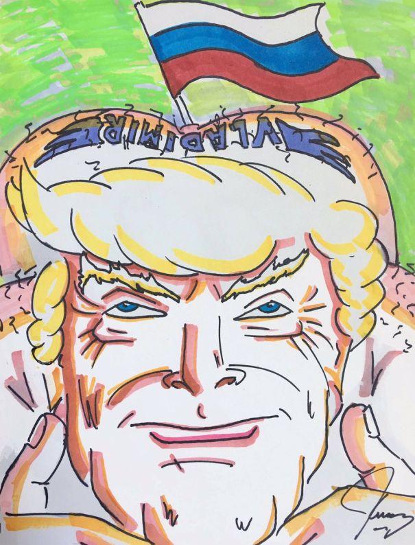 Jim Carrey Shares A Trump Caricature