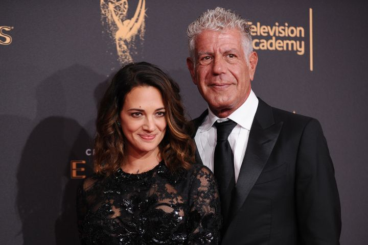 Asia Argento and Anthony Bourdain - Getty Images