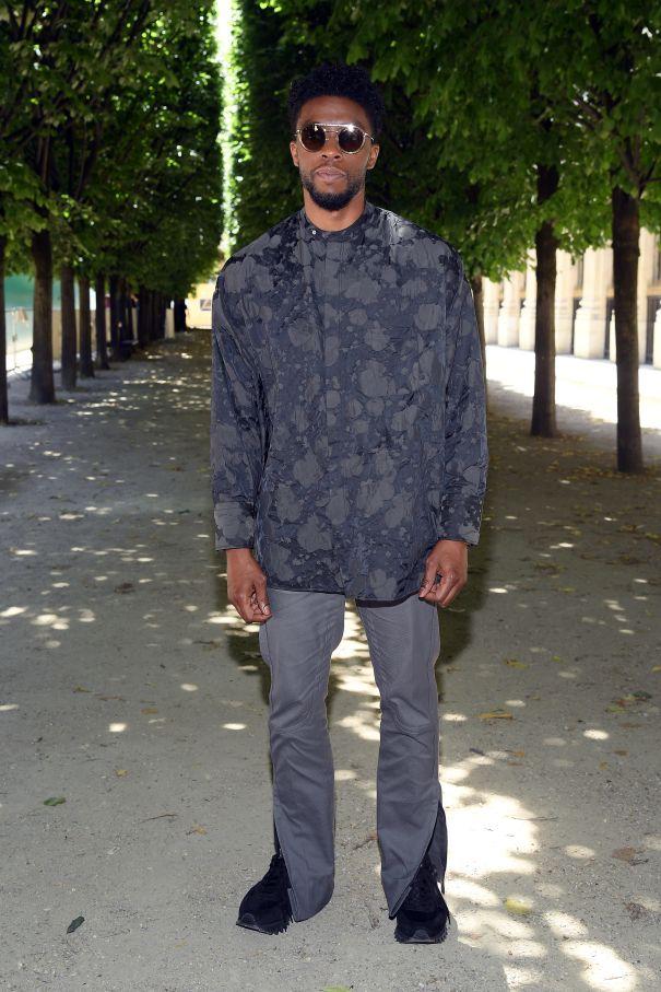 Chadwick Boseman Gets Shady At Paris Fashion Week