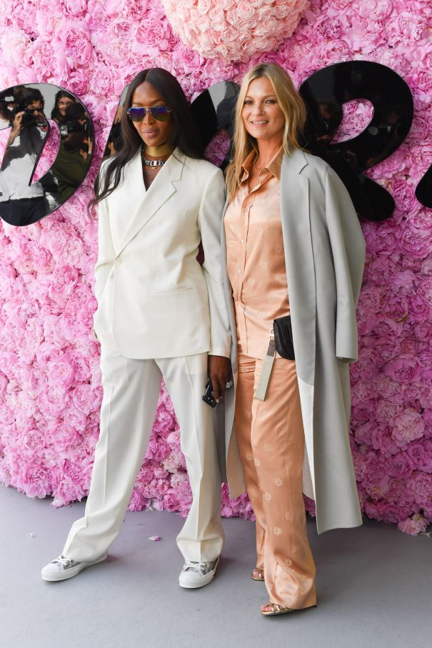 Naomi Campbell And Kate Moss Catch Pantsuit Fever