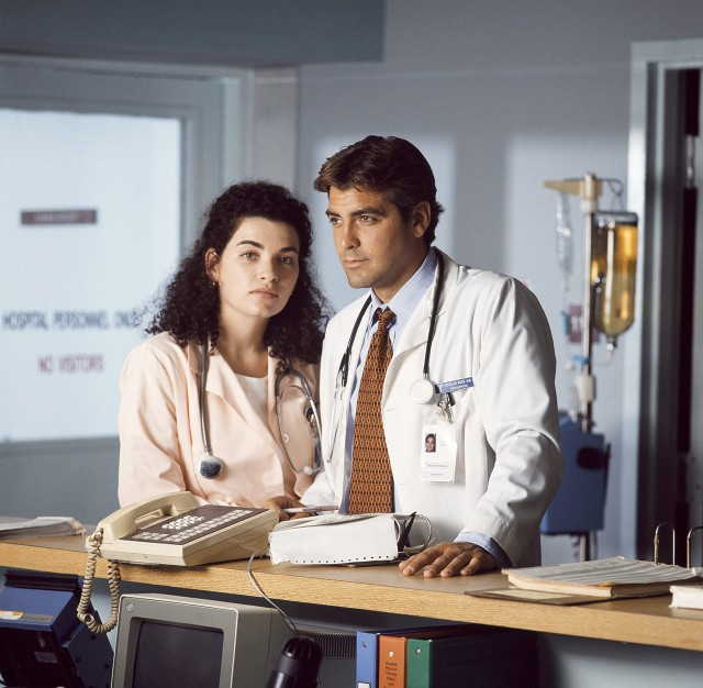 George Clooney and Julianna Margulies in 'ER' – Getty