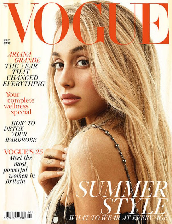 When she posed for British Vogue