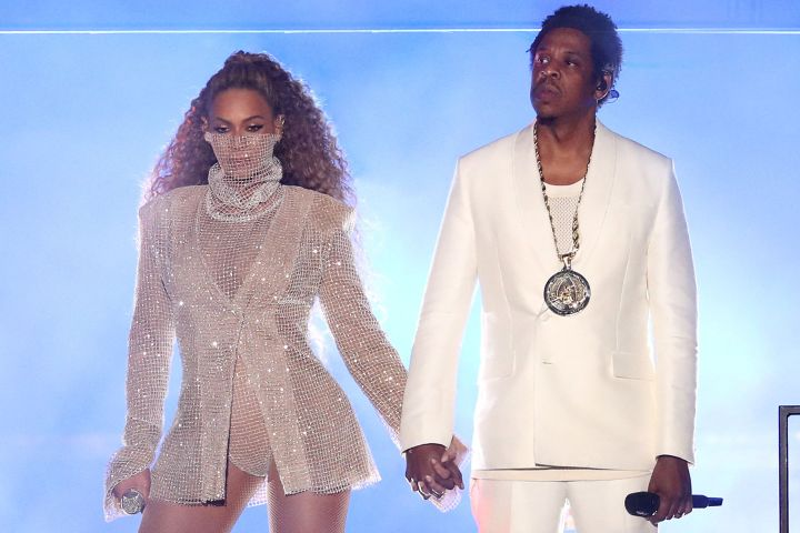 Beyonce and Jay-Z in concert as they kick-off their On The Run II Tour on Wednesday, June 6 at Principality Stadium, Cardiff, Wales, UK.