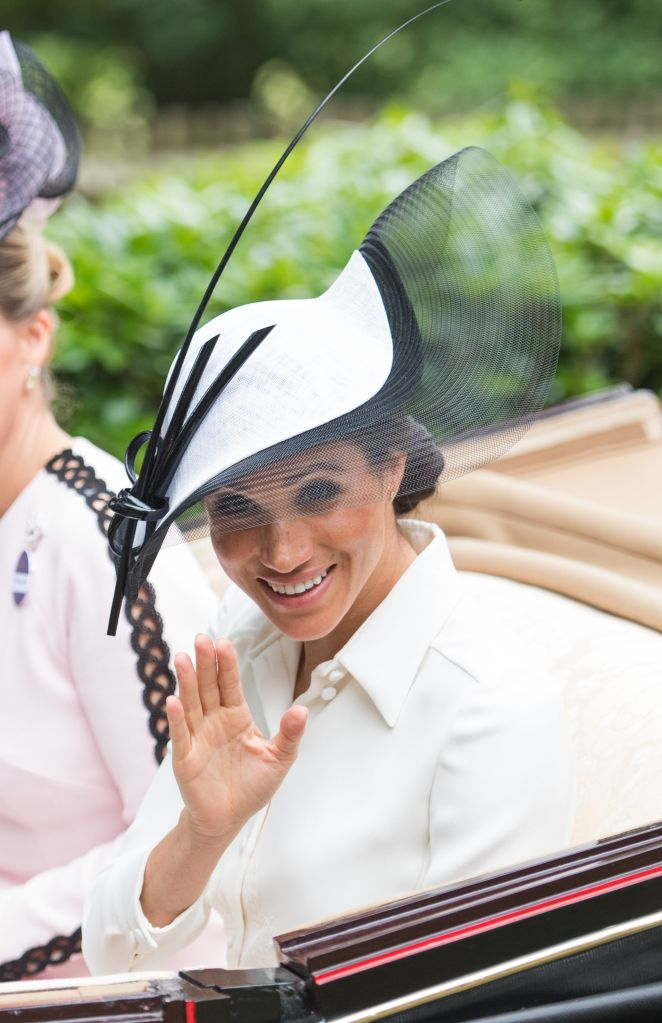 The Duchess of Sussex donned a chic Givenchy ensemble for the outing