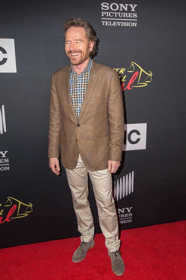 "Bryan Cranston Walks The ""Better Call Saul"" Carpet"
