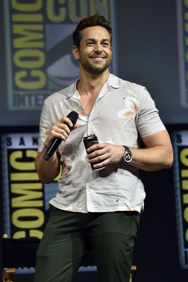 Zachary Levi Has A Casual Beer