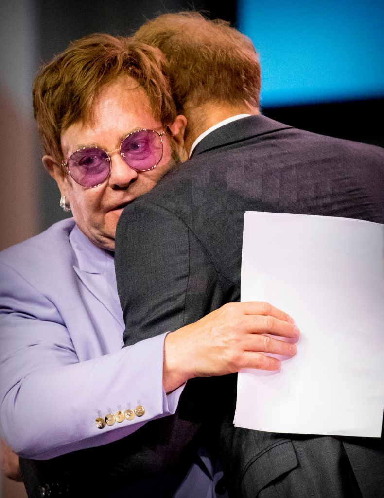Prince Harry praised Elton John as the pair launched their AIDs initiative