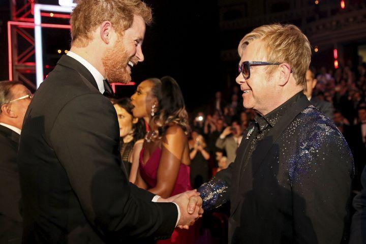 Prince Harry with Sir Elton John