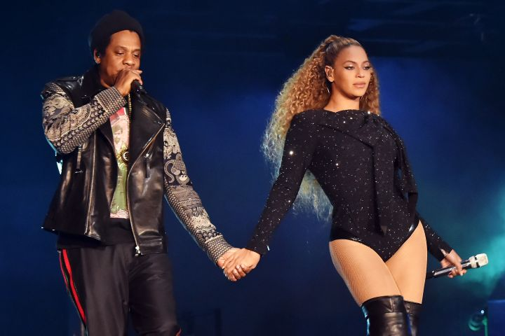 Beyonce and Jay-Z took to the stage in Paris on Sunday night