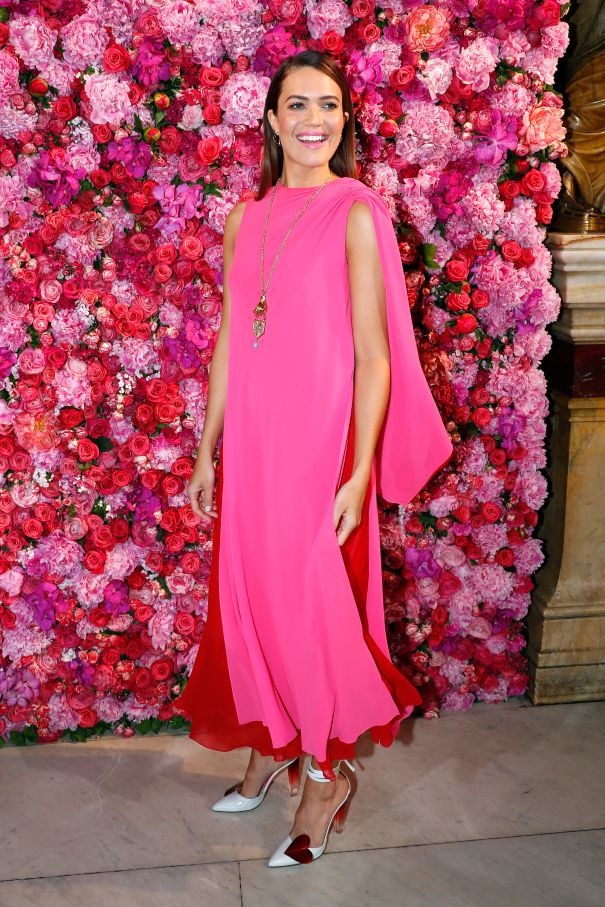 Mandy Moore Radiates In Pink At Schiaparelli