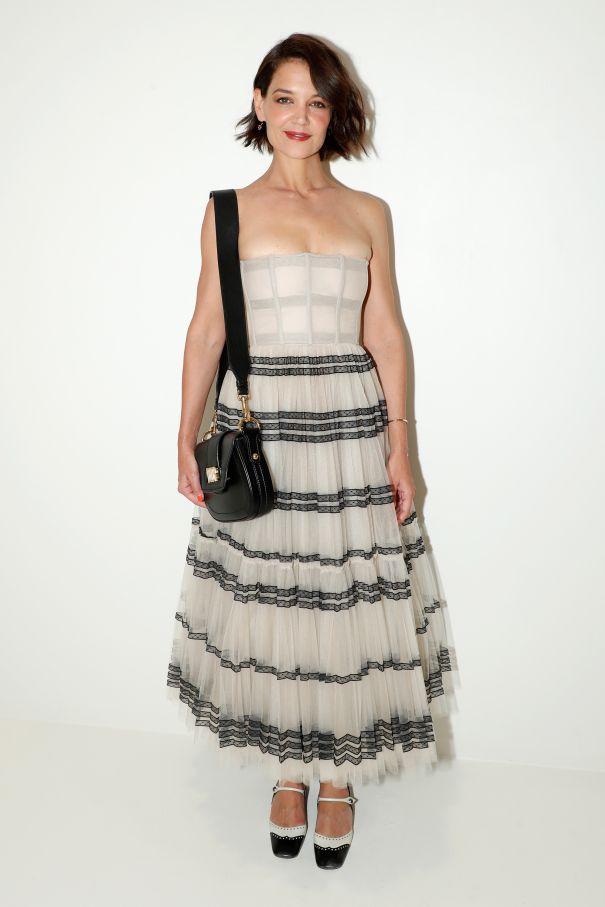 Katie Holmes Rocks A Monochrome Look