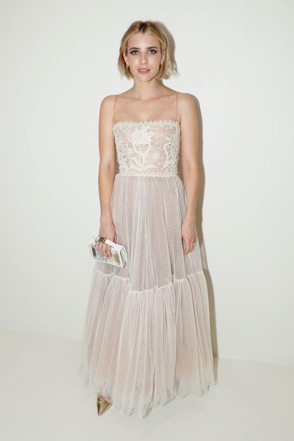 Emma Roberts Goes Glam At Dior