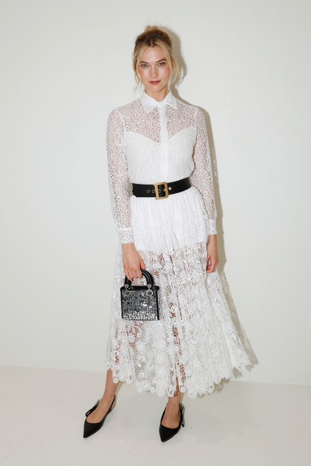 Karlie Kloss Is Ethereal In White Lace